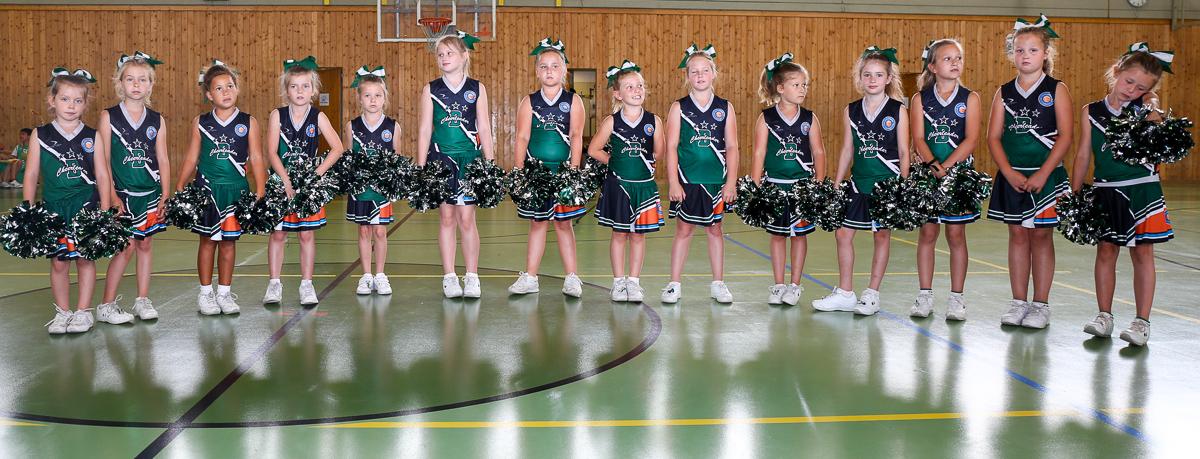 Die D- Cheerleader beim Basket 2000 Bleib am Ball Volksschulturnier